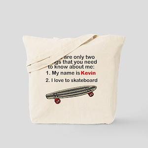 Two Things Skateboarding Tote Bag