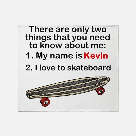 Two Things Skateboarding Throw Blanket
