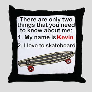Two Things Skateboarding Throw Pillow