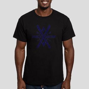 ski bum dark Men's Fitted T-Shirt (dark)