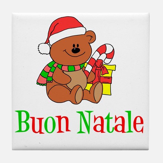 Italian Christmas Apron Tile Coaster