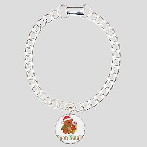 Italian Christmas Apron Charm Bracelet, One Charm