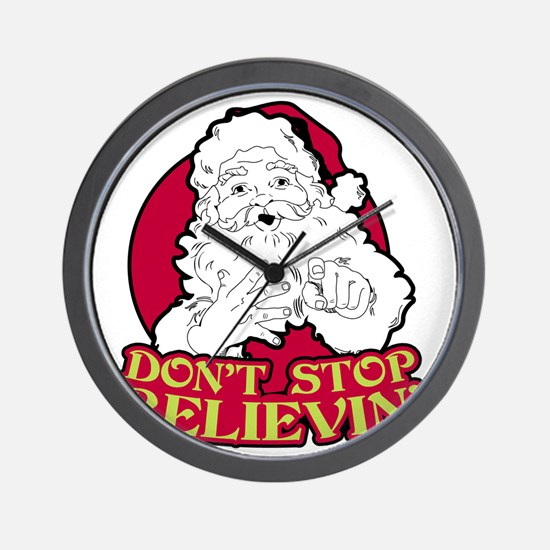 Dont Stop Believin BLK Wall Clock