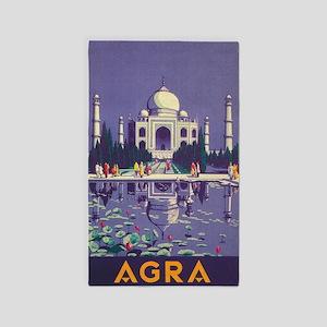 Agra, India Taj Mahal Vintage Travel Poster Area R