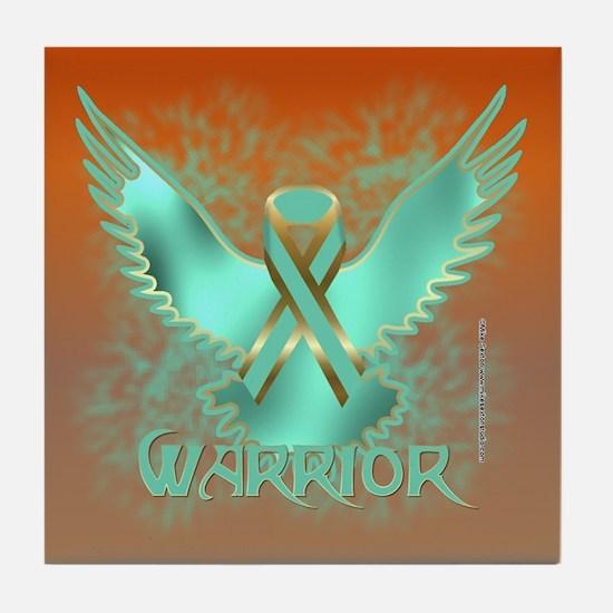 Ovarian Cancer Eagle Tile Coaster