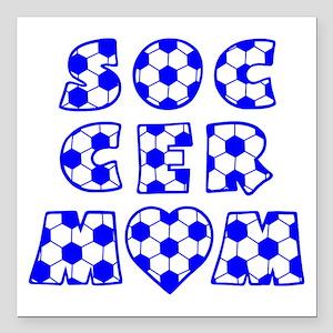 "wh blue, Mom Block Square Car Magnet 3"" x 3"""