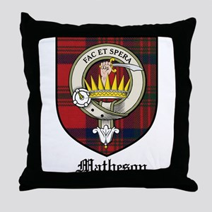 Matheson Clan Crest Tartan Throw Pillow
