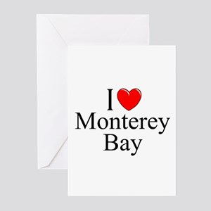 """""""I Love Monterey Bay"""" Greeting Cards (Pk of 10"""