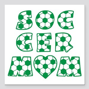 """wh green, Mom Block Square Car Magnet 3"""" x 3"""""""