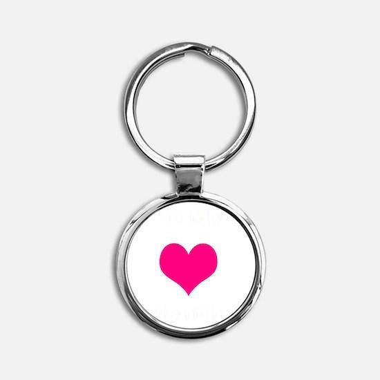 valentine heart be my 1 light Round Keychain
