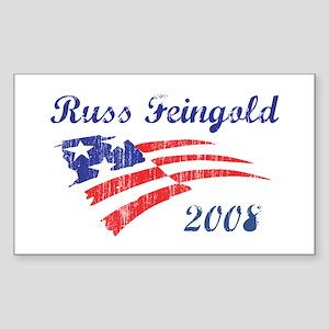 Russ Feingold (vintage) Rectangle Sticker
