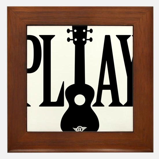 Play Ukulele Framed Tile