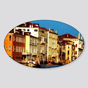 Grand Canal. Hisotric homes along t Sticker (Oval)