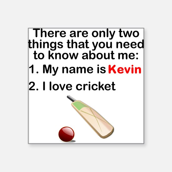 Two Things Cricket Sticker