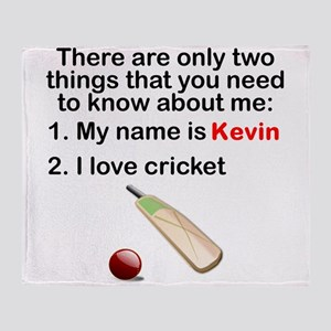 Two Things Cricket Throw Blanket