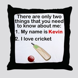 Two Things Cricket Throw Pillow