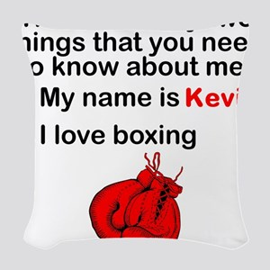 Two Things Boxing Woven Throw Pillow