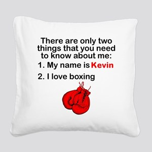 Two Things Boxing Square Canvas Pillow