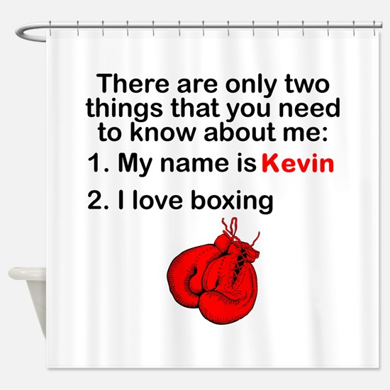 Two Things Boxing Shower Curtain