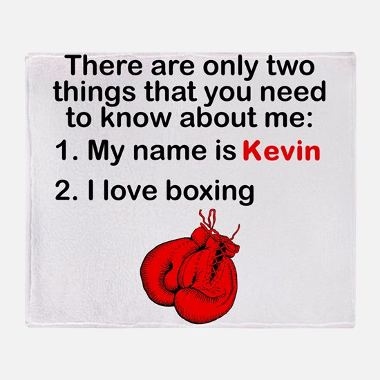 Two Things Boxing Throw Blanket