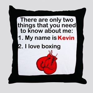 Two Things Boxing Throw Pillow