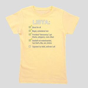 libya_no_blood_list Girl's Tee