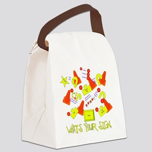 lotsofsigns3 Canvas Lunch Bag