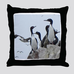 2011 09 27_Peru Balles_5574 cormorant Throw Pillow