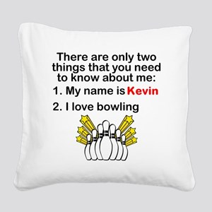Two Things Bowling Square Canvas Pillow