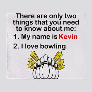 Two Things Bowling Throw Blanket