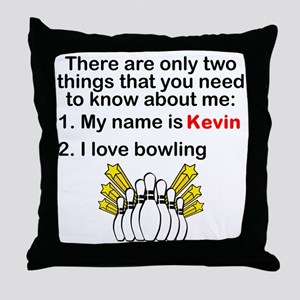 Two Things Bowling Throw Pillow