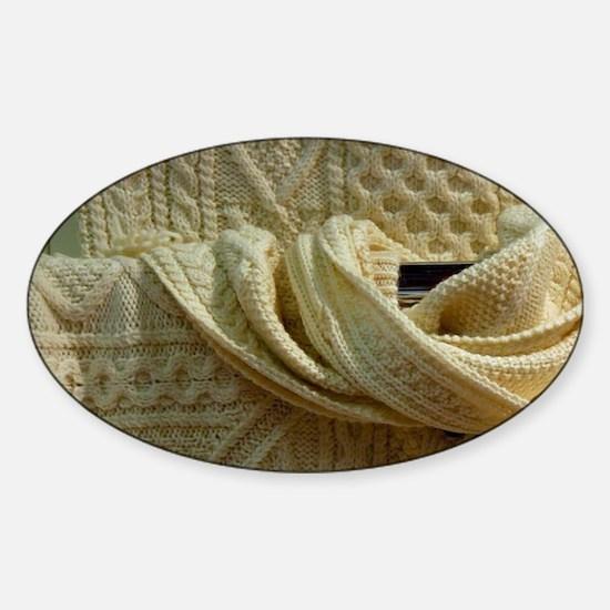 Traditional Irish knitwear. Sticker (Oval)