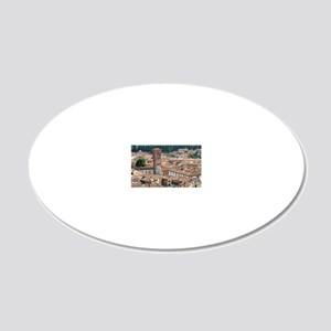 View of Lucca from Torre Gui 20x12 Oval Wall Decal