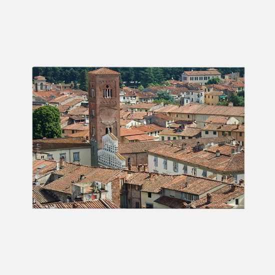 View of Lucca from Torre Guinigi, Rectangle Magnet