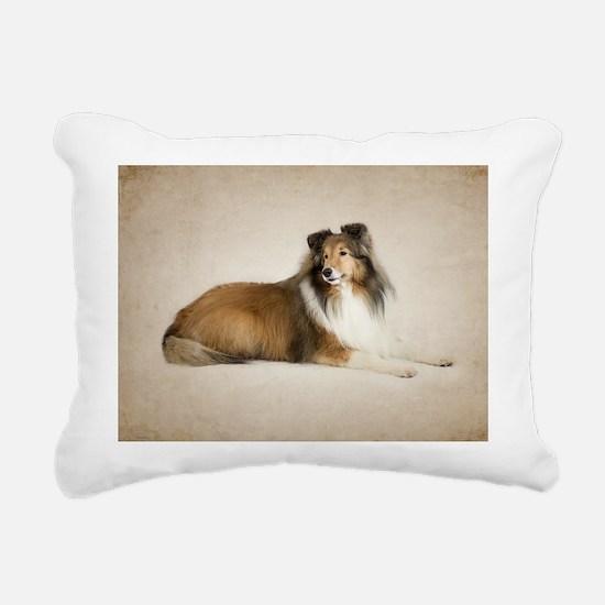 Mix and Match Sheltie Rectangular Canvas Pillow