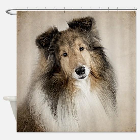 Sheltie Shower Curtain