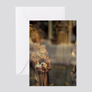 Statuettes of St. Francis of Assisi  Greeting Card