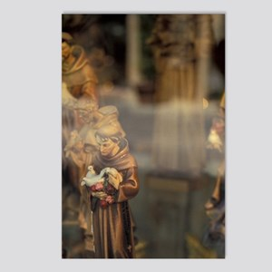 Statuettes of St. Francis Postcards (Package of 8)