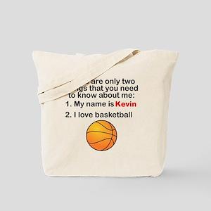 Two Things Basketball Tote Bag