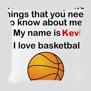 Two Things Basketball Woven Throw Pillow