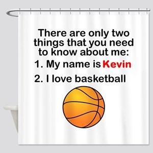 Two Things Basketball Shower Curtain