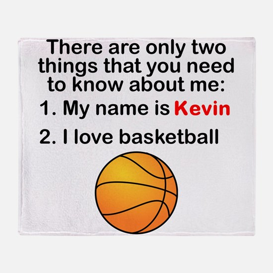 Two Things Basketball Throw Blanket