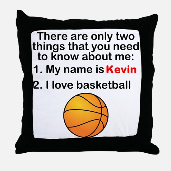 Two Things Basketball Throw Pillow