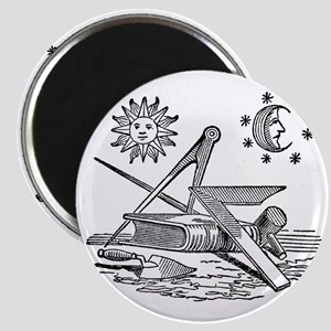 Masonic Woodcut Magnet