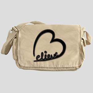 BelieveBlkTransparent Messenger Bag
