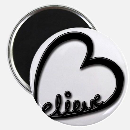 BelieveBlkTransparent Magnet