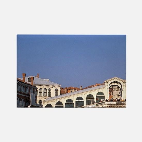 Italy, Veneto, Venice, Rialto Bri Rectangle Magnet