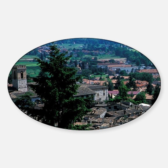 Europe, Italy, Umbra, Assisi. Sceni Sticker (Oval)