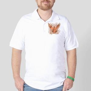 Testicular Cancer Eagle Golf Shirt