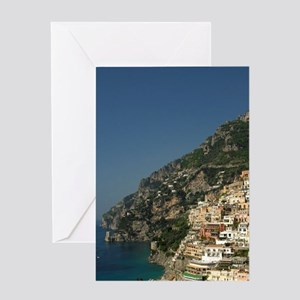 Positano. Colorful coastal overlook  Greeting Card
